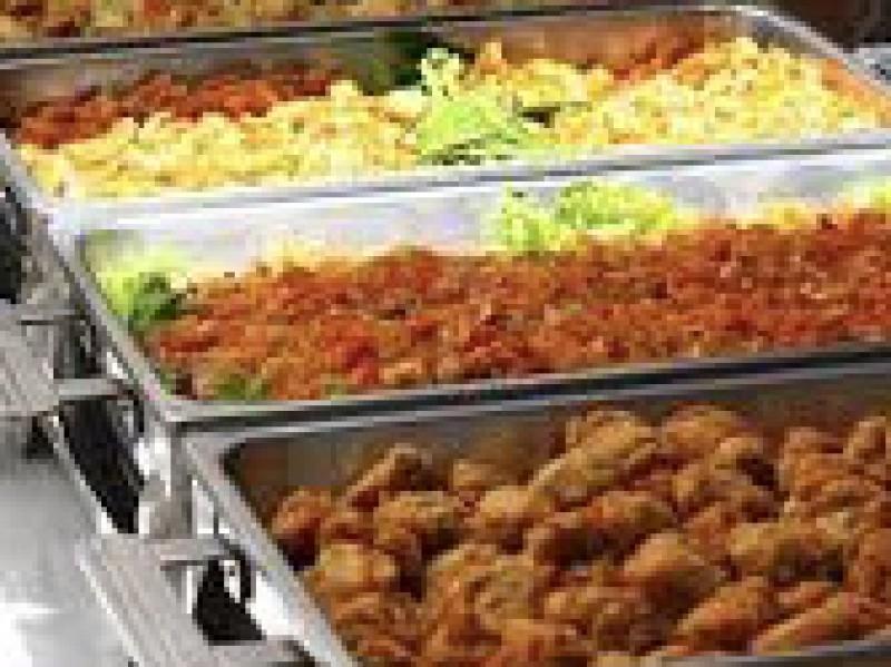 Warm buffet bourg. vlees