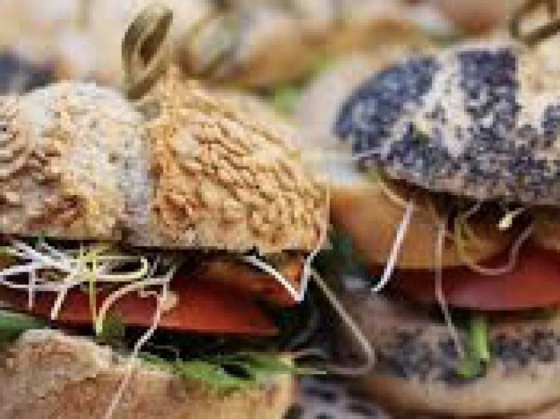 Mini broodje zalm / st.