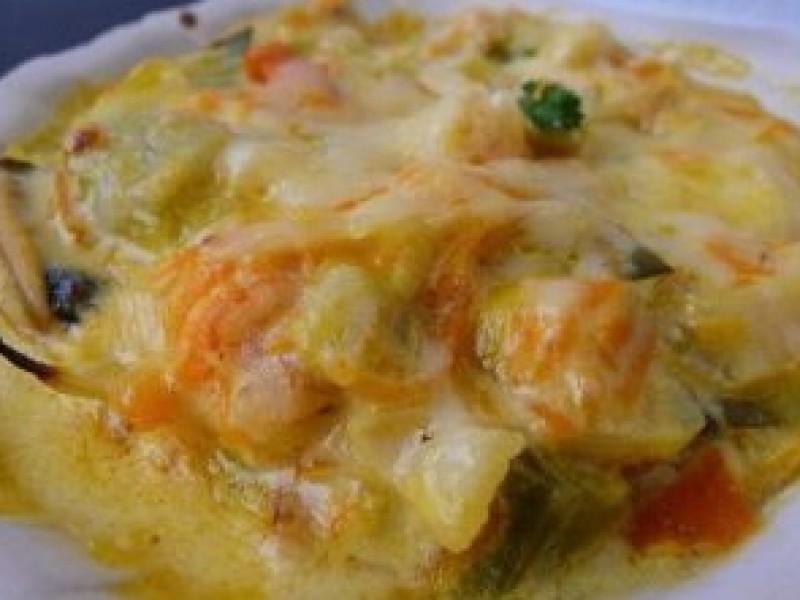 Lasagne gegrilde coquilles